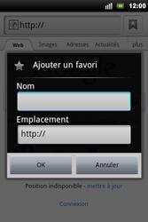 Sony Ericsson Xperia Mini Pro - Internet - navigation sur Internet - Étape 5
