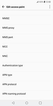 LG V30 - MMS - Manual configuration - Step 12