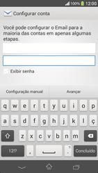 Sony C5303 Xperia SP - Email - Como configurar seu celular para receber e enviar e-mails - Etapa 6