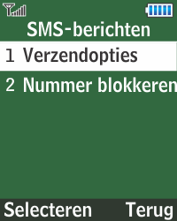 Samsung E1270 - SMS - Handmatig instellen - Stap 6