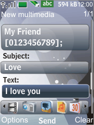 Nokia 7210 supernova - MMS - Sending pictures - Step 11