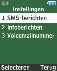 Samsung E1270 - SMS - Handmatig instellen - Stap 5