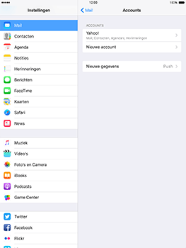 Apple iPad Mini 3 iOS 10 - E-mail - Handmatig instellen (yahoo) - Stap 9