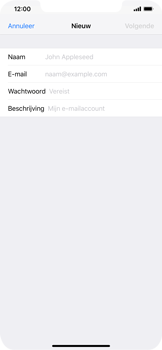 Apple iPhone XS Max - E-mail - Account instellen (POP3 met SMTP-verificatie) - Stap 7
