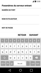 LG X Screen - E-mail - Configuration manuelle - Étape 10