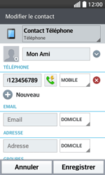 LG F70 - Contact, Appels, SMS/MMS - Ajouter un contact - Étape 8