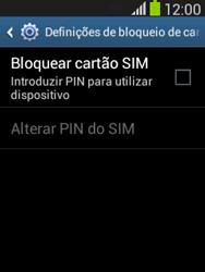 Samsung Galaxy Pocket Neo - Segurança - Como ativar o código PIN do cartão de telemóvel -  6