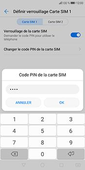 Huawei P Smart - Sécuriser votre mobile - Personnaliser le code PIN de votre carte SIM - Étape 9