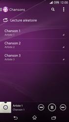 Sony Xpéria T3 - Photos, vidéos, musique - Ecouter de la musique - Étape 7