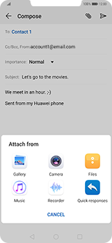 Huawei Mate 20 Pro - Email - Sending an email message - Step 10