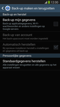 Samsung N9005 Galaxy Note III LTE - Instellingen aanpassen - Fabrieksinstellingen terugzetten - Stap 6