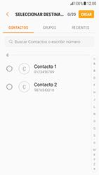 Samsung Galaxy S6 - Android Nougat - Mensajería - Escribir y enviar un mensaje multimedia - Paso 5