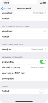 Apple iPhone X - iOS 12 - E-mail - Account instellen (IMAP zonder SMTP-verificatie) - Stap 24