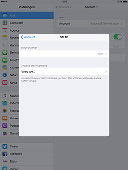 Apple iPad mini Retina iOS 10 - E-mail - Handmatig instellen - Stap 24