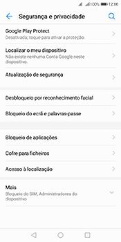 Huawei Y6 (2018) - Segurança - Como ativar o código de bloqueio do ecrã -  4
