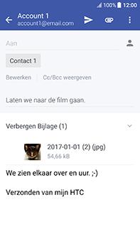 HTC U11 - E-mail - Bericht met attachment versturen - Stap 18