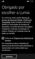 Microsoft Lumia 435 - Primeiros passos - Como ligar o telemóvel pela primeira vez -  19