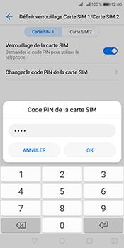 Huawei Y6 (2018) - Sécuriser votre mobile - Personnaliser le code PIN de votre carte SIM - Étape 13