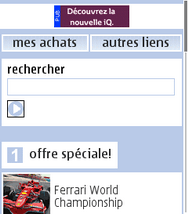 Nokia E72 - Internet - Examples des sites mobile - Étape 2