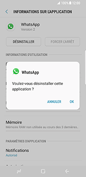 Samsung Galaxy S8 - Applications - Supprimer une application - Étape 7