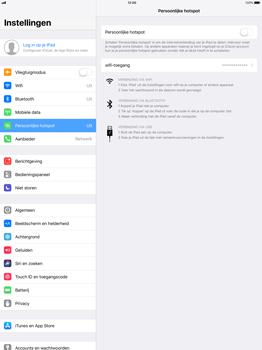 Apple iPad Pro 12.9 (1st gen) - iOS 11 - WiFi - Mobiele hotspot instellen - Stap 4
