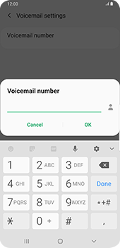 Samsung galaxy-s9-plus-android-pie - Voicemail - Manual configuration - Step 10