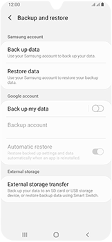 Samsung Galaxy A40 - Data - Create a backup with your account - Step 6
