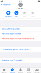 Apple iPhone 7 - iOS 13 - Chamadas - Como bloquear chamadas de um número específico - Etapa 5