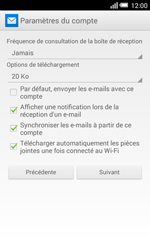 Alcatel Pop S3 (OT-5050X) - E-mail - Configurer l