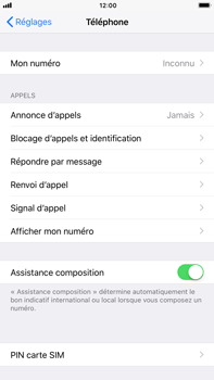 Apple iPhone 7 Plus - iOS 11 - Sécuriser votre mobile - Personnaliser le code PIN de votre carte SIM - Étape 4