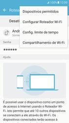 Samsung Galaxy S7 - Wi-Fi - Como usar seu aparelho como um roteador de rede wi-fi - Etapa 8