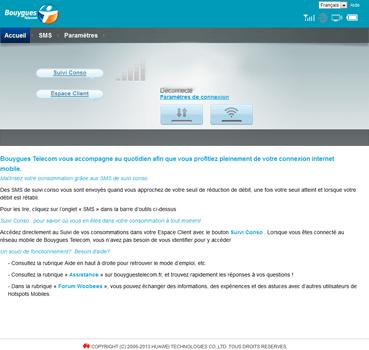 Alcatel MW40V - Aller plus loin - Restaurer les paramètres d'usines - Étape 2