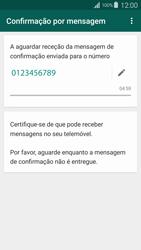 Samsung Galaxy S4 LTE - Aplicações - Como configurar o WhatsApp -  8