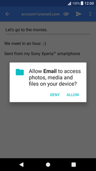 Sony Xperia XA1 Plus - Email - Sending an email message - Step 11