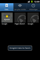 Samsung S7500 Galaxy Ace Plus - Internet - Navigation sur internet - Étape 9