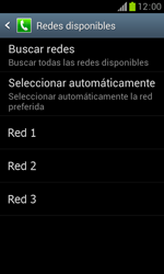 Samsung S7560 Galaxy Trend - Red - Seleccionar una red - Paso 9