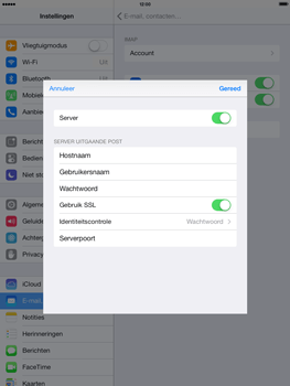 Apple iPad 4th generation iOS 7 - E-mail - e-mail instellen: IMAP (aanbevolen) - Stap 19