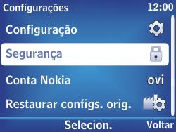 Nokia Asha 201 - Segurança - Como alterar o código de bloqueio de tela do seu celular - Etapa 5