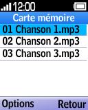 Alcatel OT-1035 - Photos, vidéos, musique - Ecouter de la musique - Étape 5
