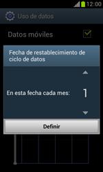 Samsung S7560 Galaxy Trend - Internet - Ver uso de datos - Paso 7