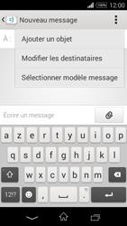Sony Xpéria E3 - Contact, Appels, SMS/MMS - Envoyer un SMS - Étape 6