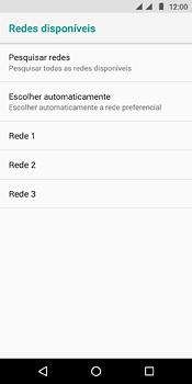 Motorola Moto E5 - Rede móvel - Como selecionar o tipo de rede adequada - Etapa 10