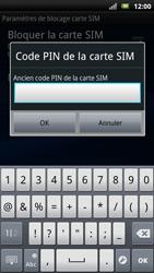 Sony Ericsson Xpéria Arc - Sécuriser votre mobile - Personnaliser le code PIN de votre carte SIM - Étape 7