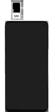 Samsung Galaxy S10 - Toestel - simkaart plaatsen - Stap 5