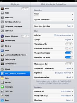Apple iPad mini - E-mail - Configuration manuelle - Étape 4