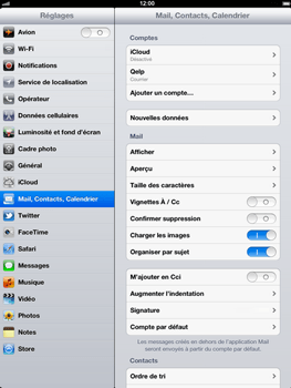 Apple iPad 4th generation - E-mail - Configurer l