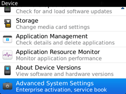 BlackBerry 9720 Bold - Settings - Configuration message received - Step 5