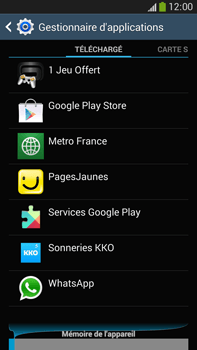 Samsung Galaxy Note 3 - Applications - Supprimer une application - Étape 6