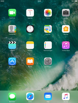 Apple iPad Air 2 iOS 10 - iOS features - Bedieningspaneel - Stap 1