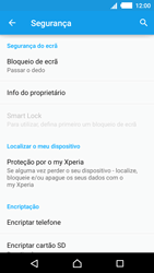 Sony Xperia M4 Aqua - Segurança - Como ativar o código de bloqueio do ecrã -  5